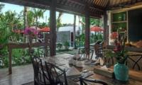 Dining Area with Pool View - Villa Abakoi - Seminyak, Bali