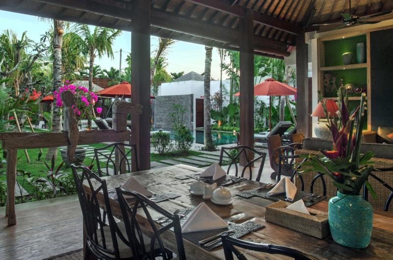 Dining Area with Pool View - Villa Abakoi - Seminyak, Bali