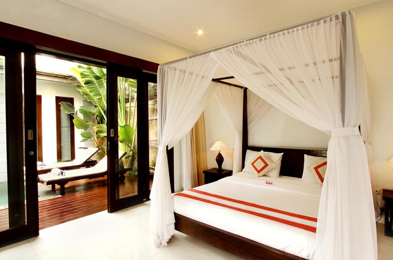 Bedroom with Pool View - Villa Abimanyu II - Seminyak, Bali