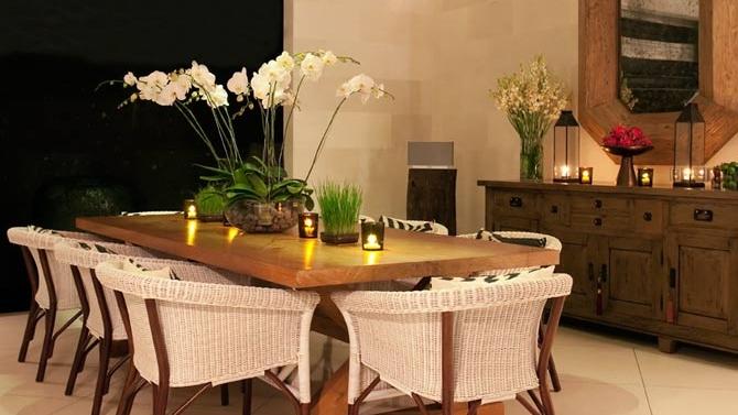 Dining Area at Night - Villa Adasa - Seminyak, Bali