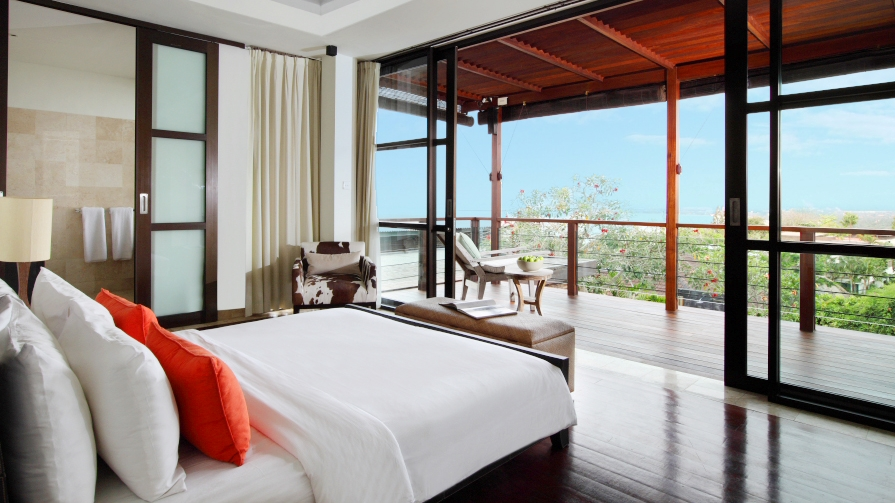 Bedroom and Balcony - Villa Adenium - Jimbaran, Bali