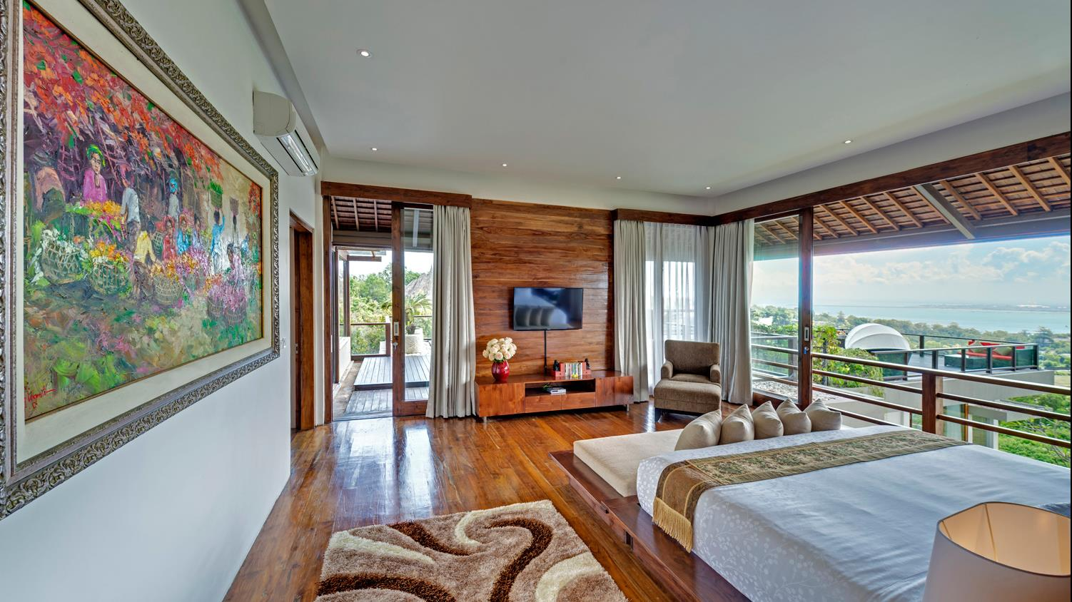 Bedroom with Wooden Floor - Villa Aiko - Jimbaran, Bali