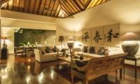 Living Area at Night - Villa Alabali - Seminyak, Bali