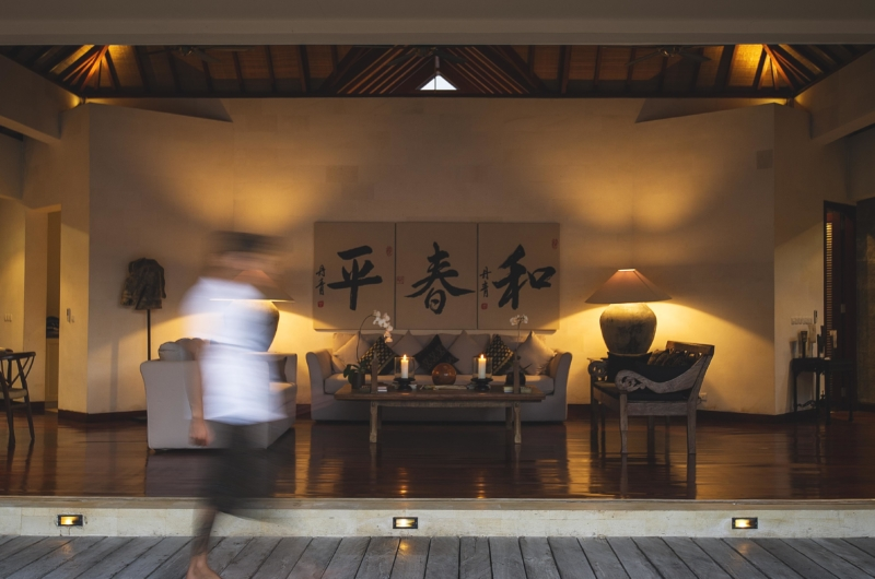 Lounge Area at Night - Villa Alabali - Seminyak, Bali