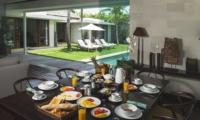 Dining Area with Pool View - Villa Alabali - Seminyak, Bali