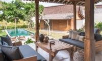 Living Area with Pool View - Villa Alea - Kerobokan, Bali