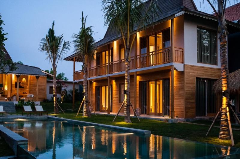 Gardens and Pool at Night - Villa Alea - Kerobokan, Bali