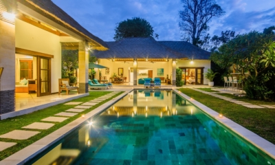 Gardens and Pool at Night - Villa Alore - Seminyak, Bali