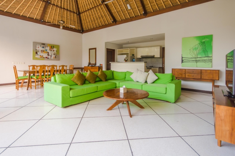 Living and Dining Area with TV - Villa Alore - Seminyak, Bali