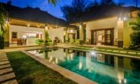 Reclining Sun Loungers at Night - Villa Alore - Seminyak, Bali