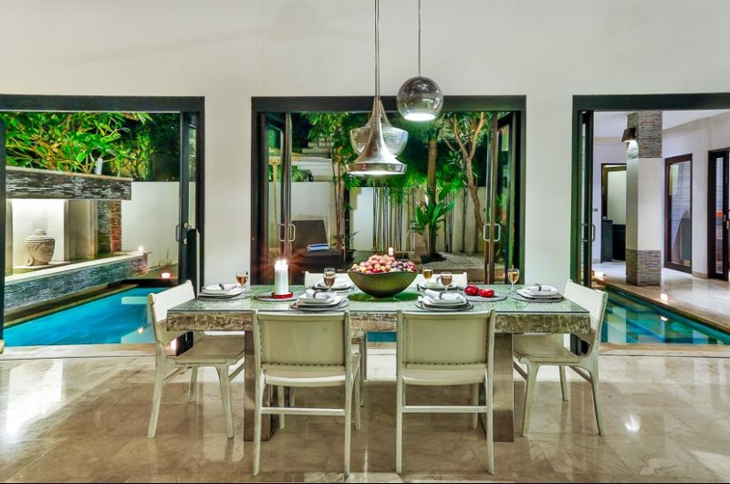 Dining Area with Pool View - Villa Amala Residence - Seminyak, Bali