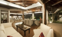 Living and Dining Area at Night - Villa Amaya - Seminyak, Bali