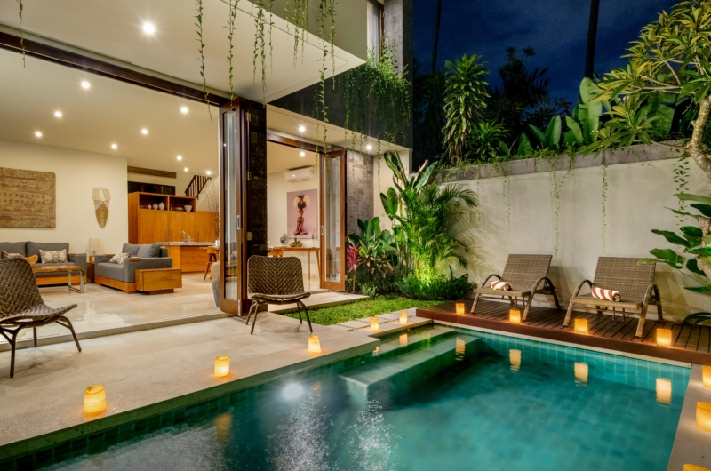 Pool Side Seating Area - Villa Amelia - Legian, Bali