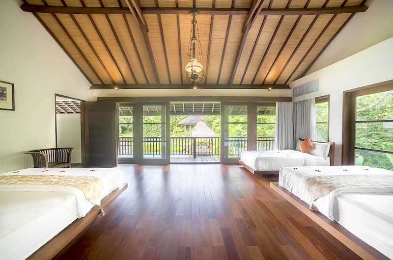 Bedroom One with Wooden Floor - Villa Amita - Canggu, Bali
