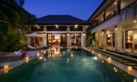 Pool at Night - Villa Amman Residence - Seminyak, Bali