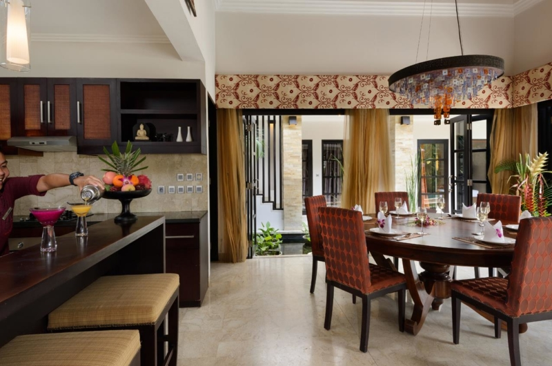 Kitchen and Dining Area - Villa Amman Residence - Seminyak, Bali