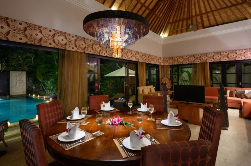 Dining Area with Pool View - Villa Amman Residence - Seminyak, Bali