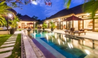 Pool Side Loungers at Night - Villa An Tan - Seminyak, Bali