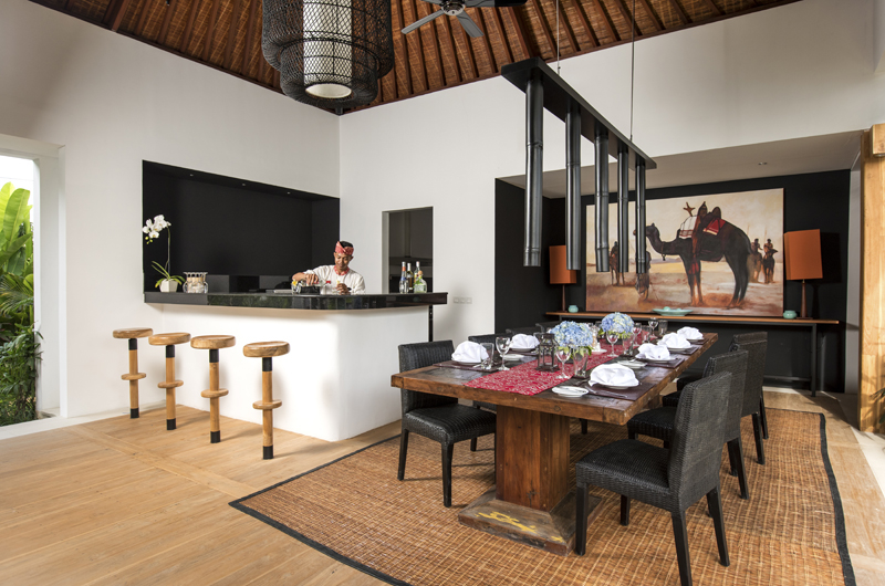 Dining Area - Villa Anam - Seminyak, Bali