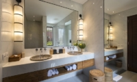 His and Hers Bathroom with Mirror - Villa Anam - Seminyak, Bali