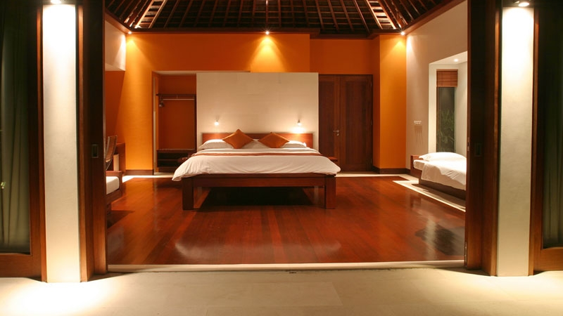 Bedroom with Wooden Floor - Villa Anandita - Lombok, Indonesia