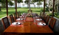 Outdoor Dining with Sea View - Villa Anandita - Lombok, Indonesia
