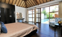Bedroom with Pool View - Villa Arama Riverside - Seminyak, Bali