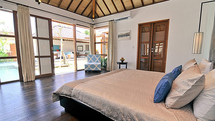 Bedroom with View - Villa Arama Riverside - Seminyak, Bali