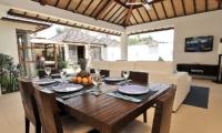 Dining Area - Villa Arama Riverside - Seminyak, Bali