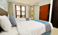 Twin Bedroom with View - Villa Arama Riverside - Seminyak, Bali