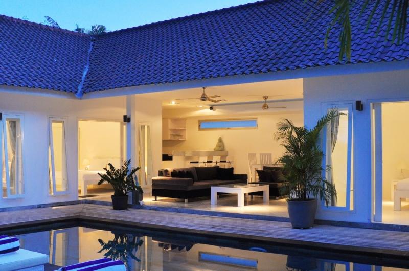 Pool at Night - Villa Arta - Seminyak, Bali