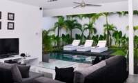 Living Area with Pool View - Villa Arta - Seminyak, Bali