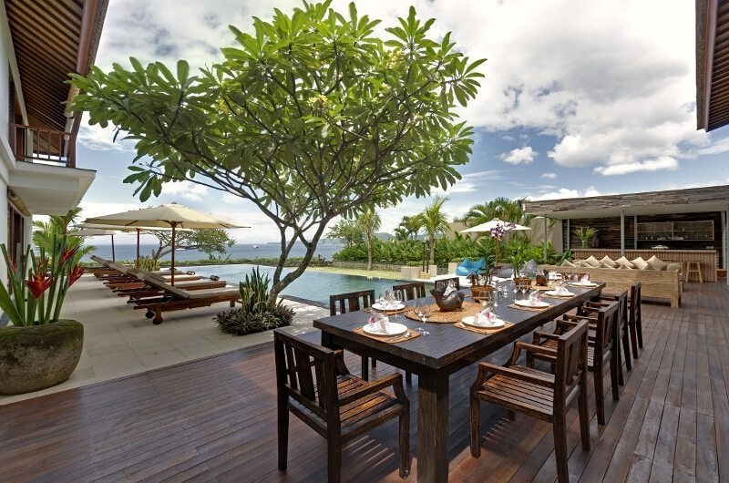 Pool Side Dining - Villa Asada - Canggu, Bali