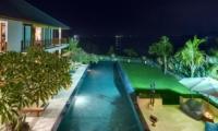 Gardens and Pool at Night - Villa Asada - Candidasa, Bali