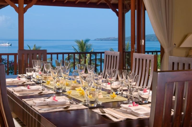 Dining Area with Sea View - Villa Asada - Candidasa, Bali