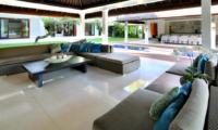 Lounge Area with Pool View - Villa Asante - Canggu, Bali
