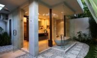 En-Suite Bathroom with View - Villa Asante - Canggu, Bali