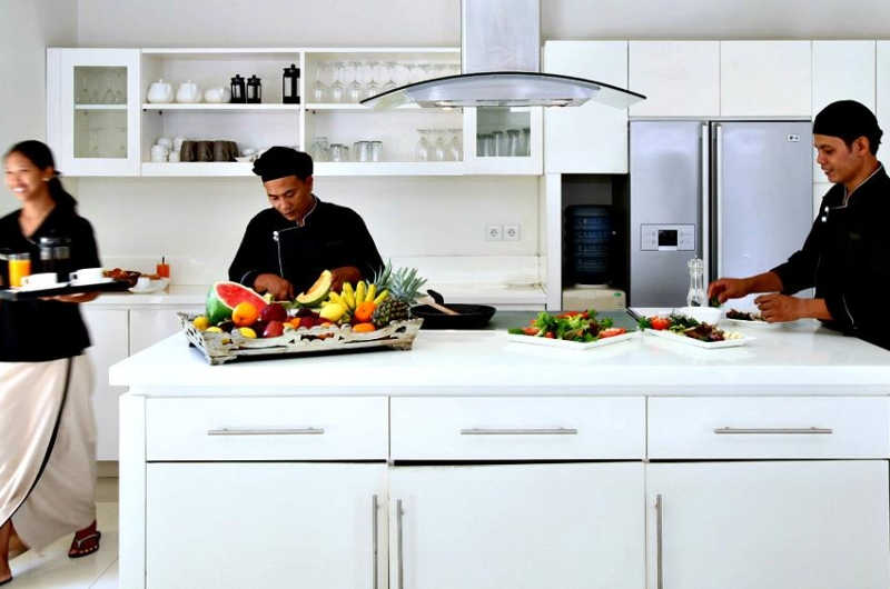 Kitchen with Chef - Villa Asante - Canggu, Bali
