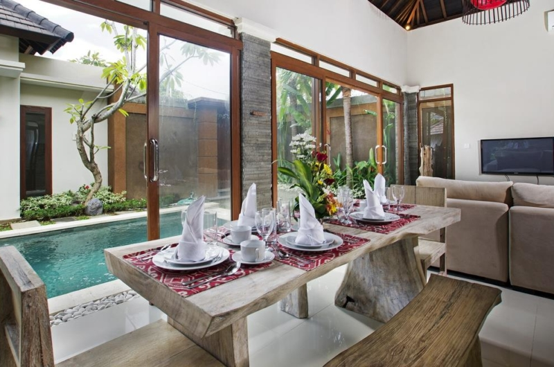 Dining Area with Pool View - Villa Ashna - Seminyak, Bali