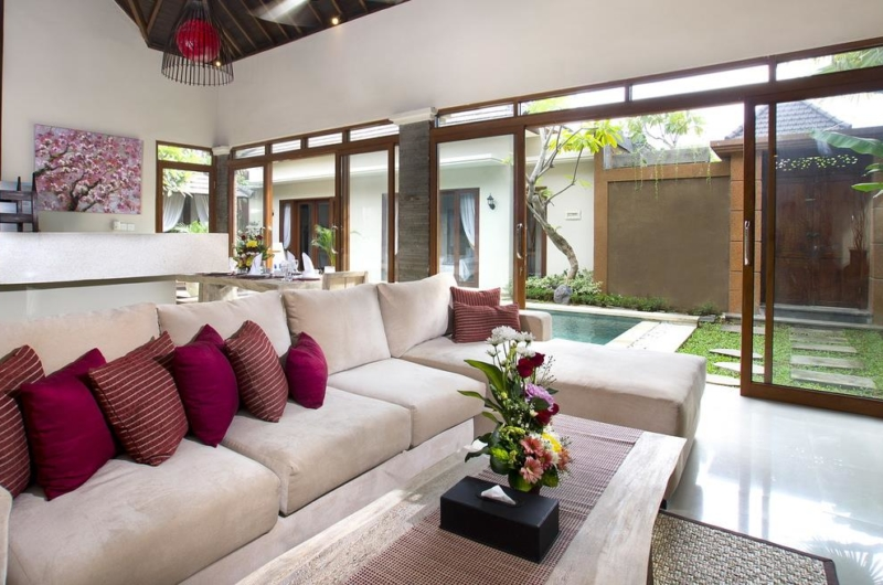 Living Area with Pool View - Villa Ashna - Seminyak, Bali