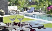 Pool Side Dining - Villa Ashoka - Canggu, Bali