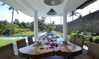 Dining with Pool View - Villa Ashoka - Canggu, Bali