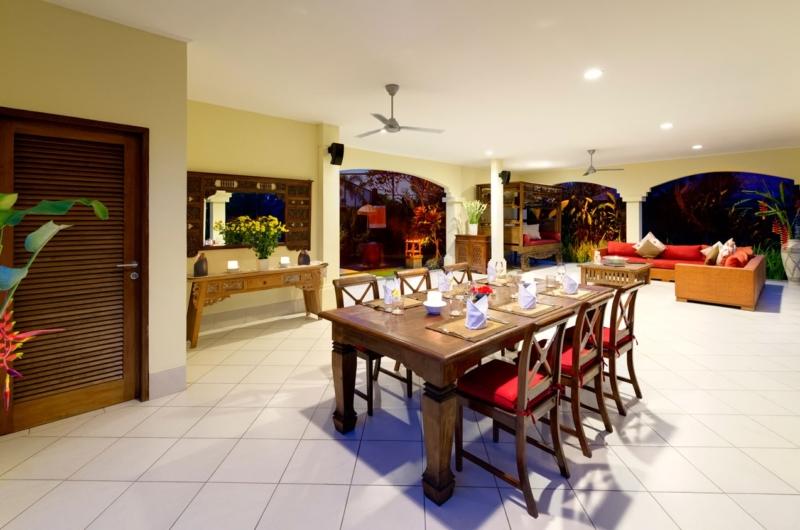Indoor Dining Area - Villa Asmara - Seseh, Bali