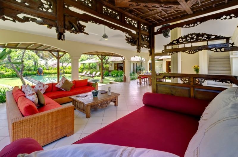 Living Area with Pool View - Villa Asmara - Seseh, Bali
