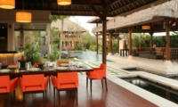 Dining Area with Pool View - Villa Asta - Batubelig, Bali
