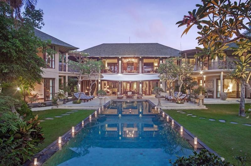 Gardens and Pool at Night - Villa Avalon Bali - Canggu, Bali