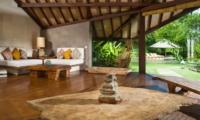 Living Area with Wooden Floor - Villa Bali Bali - Umalas, Bali
