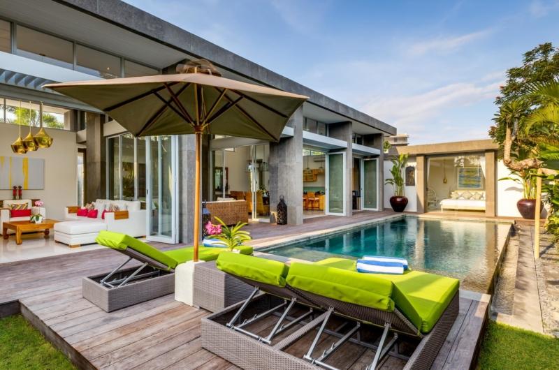 Pool Side Loungers - Villa Bamboo Aramanis - Seminyak, Bali