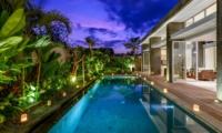 Pool at Night - Villa Bamboo Aramanis - Seminyak, Bali