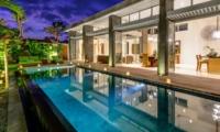 Swimming Pool at Night - Villa Bamboo Aramanis - Seminyak, Bali